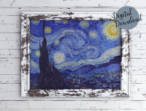 Vincent Van Gogh Starry Night Digital Download