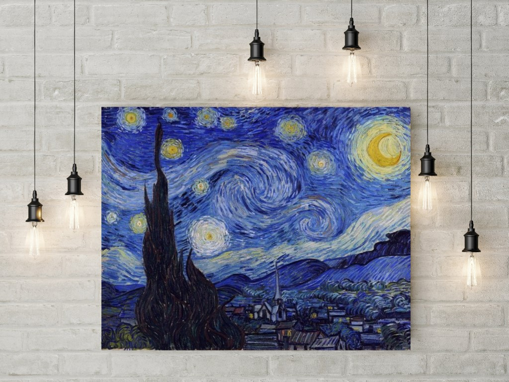 photograph relating to Starry Night Printable named Vincent Van Gogh Starry Evening Electronic Obtain